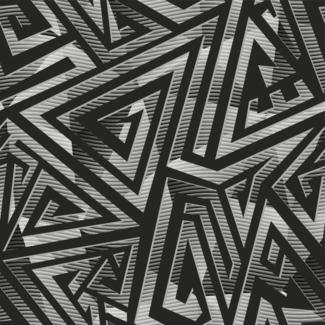 ViceVinyls Camo maze chroom zwart