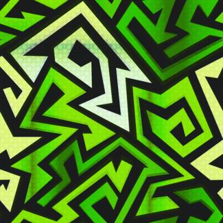 ViceVinyls Maze neon groen