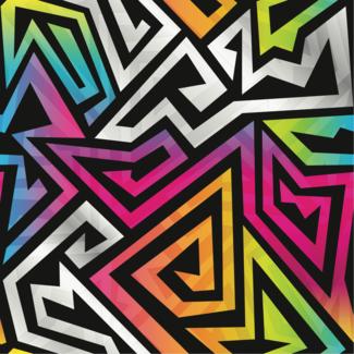 ViceVinyls Maze neon kleuren