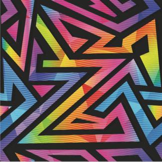 ViceVinyls Maze neon kleuren 2