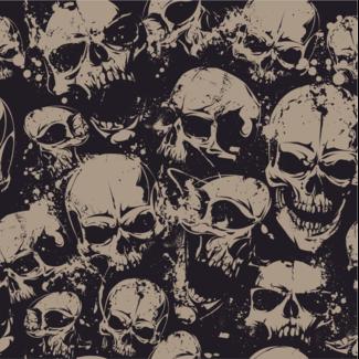 ViceVinyls Camo grunge skulls beige zwart