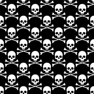 ViceVinyls Camo pirate skulls zwart wit