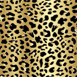 ViceVinyls Luipaard goud print