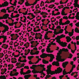 ViceVinyls Luipaard ultra roze print
