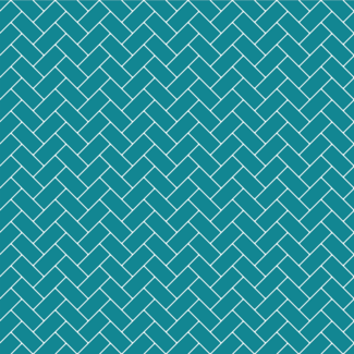 ViceVinyls Herringbone tegel patroon turquoise