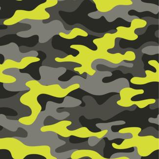 ViceVinyls Camouflage geel grijs zwart
