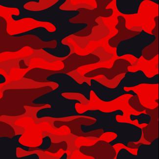 ViceVinyls Camouflage rood zwart