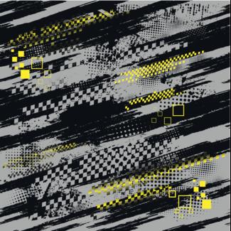 ViceVinyls Race grunge grijs zwart geel