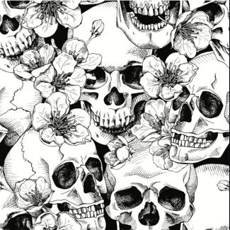 ViceVinyls Camo skulls wit zwart wrap voor hele auto - SALE- 40% korting