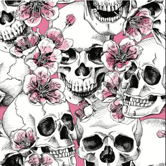 ViceVinyls Camo skulls wit roze wrap voor hele auto - SALE- 40% korting