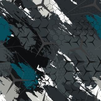 ViceVinyls Camo Benz grijs wit blauw