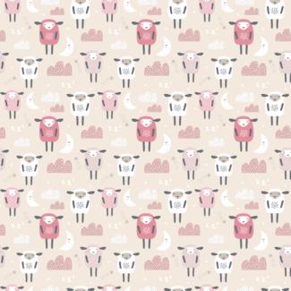 ViceVinyls Slapende schapen roze wit
