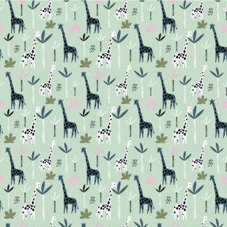 ViceVinyls Giraffen oud groene achtergrond