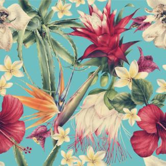 ViceVinyls Aquarel tropische bloemen