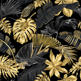 ViceVinyls Palmbladeren goud zwart