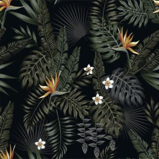 ViceVinyls Jungle bloemen in de nacht