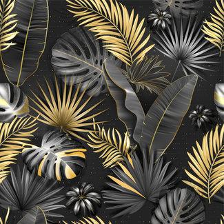 ViceVinyls Palmbladeren zwart goud