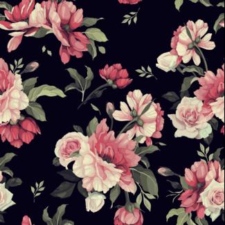 ViceVinyls Aquarel roze rozen