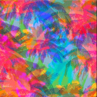 ViceVinyls Fluor palmbomen pixel stijl