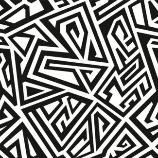 ViceVinyls Maze smal zwart wit