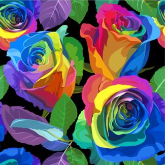 ViceVinyls Fel gekleurde rozen