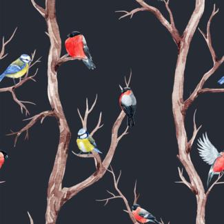 ViceVinyls Vogeltjes op takken