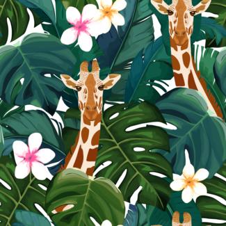 ViceVinyls Giraffe en palmbladeren