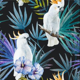 ViceVinyls Exotische witte papegaaien