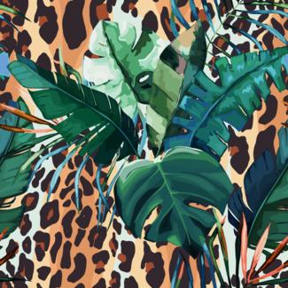 ViceVinyls Luipaardhuid en palmbladeren