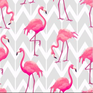 ViceVinyls Flamingo's op grijs