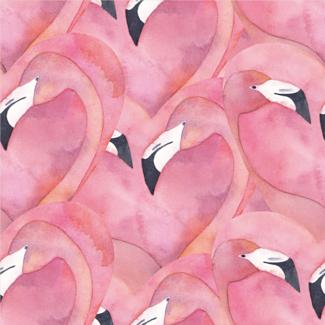 ViceVinyls Flamingo aquarel