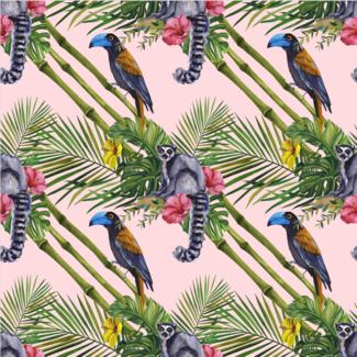 ViceVinyls Ringstaartaapjes en tropische vogels