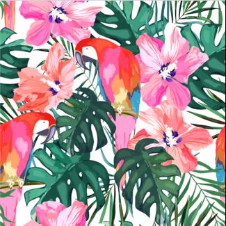 ViceVinyls Papegaaien en bloemen