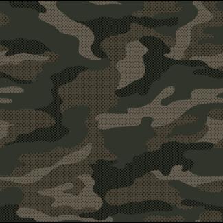 ViceVinyls Camo army groen bruin geperforeerd