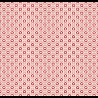 ViceVinyls Retro roze bloemen en bladeren patroon