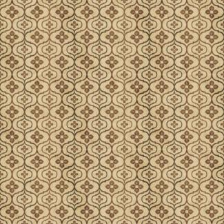 ViceVinyls Retro grunge bruin bloemen patroon