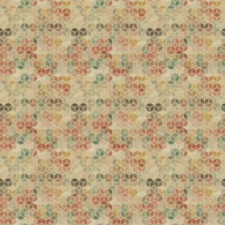 ViceVinyls Retro geometrisch blokken patroon
