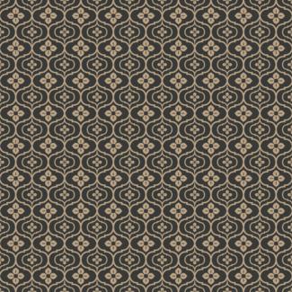 ViceVinyls Retro bruin antraciet bloemen patroon