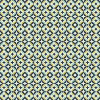 ViceVinyls Retro blauw geometrisch patroon