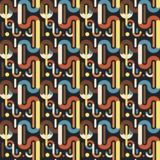 ViceVinyls Retro rond geometrisch patroon