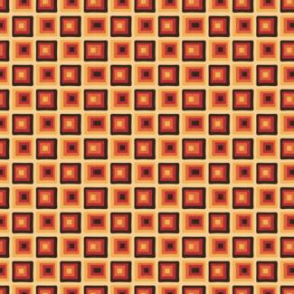 ViceVinyls Retro oranje vierkant patroon