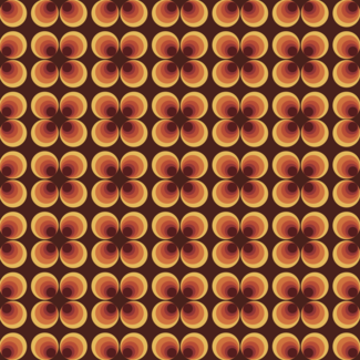 ViceVinyls Retro disco bruin patroon