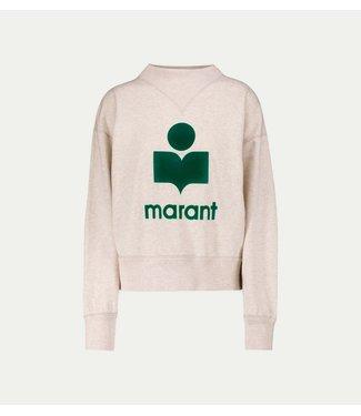 Isabel Marant Sweater Moby ecru green.