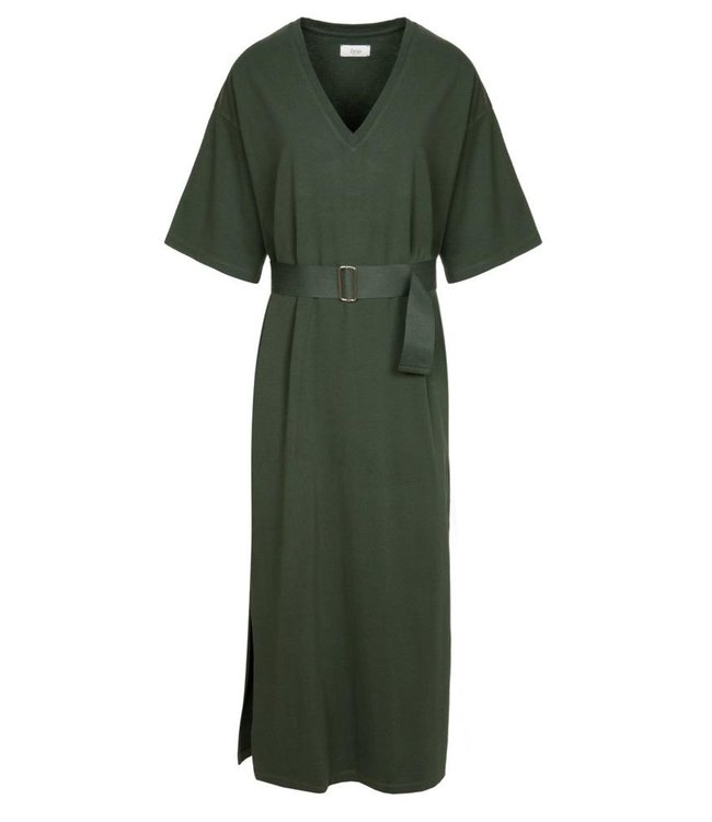 Ame Antwerp Dress Vasil biscot green.