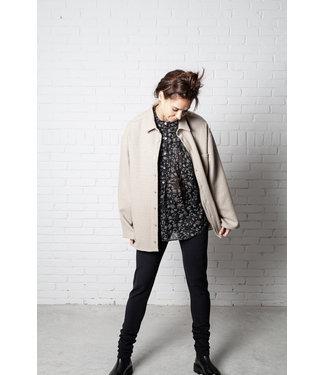 Monique van Heist Jacket 5.2 Beige fancy wool.