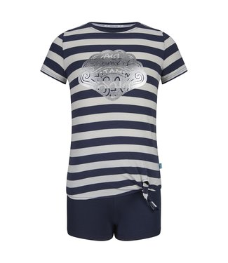Charlie Choe Girls short set with knot front shirt