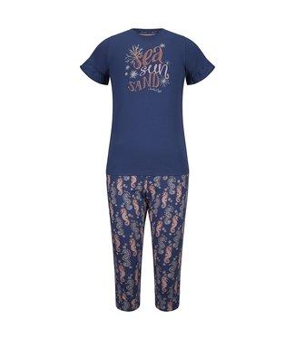 Charlie Choe Girls 3/4 harem set ruffle shirt