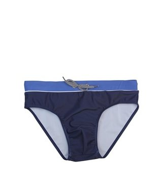 Lentiggini Men Swim Slip (Mid blue + white + navy)