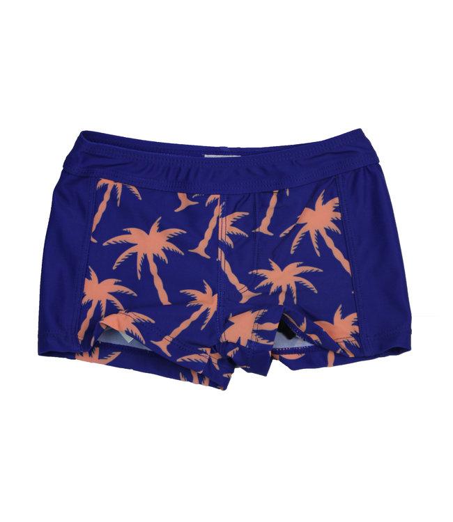 Lentiggini Boys Swimshort (Aop blue-bright orange)
