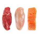 Vlees, kip, vis en vega ( halal )